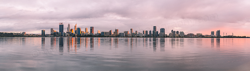 Perth and the Swan River at Sunrise, 16th May 2017
