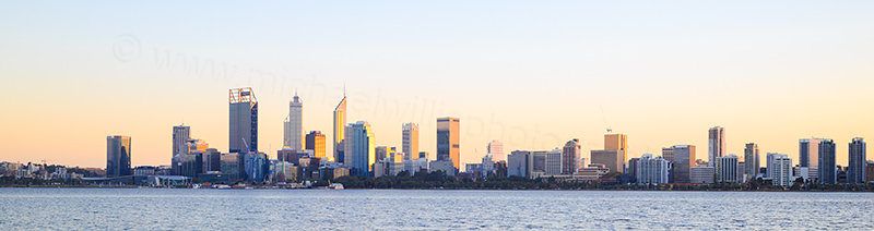 Perth and the Swan River at Sunrise, 17th May 2017