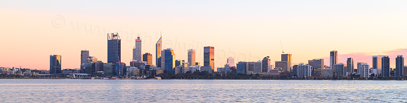 Perth and the Swan River at Sunrise, 18th May 2017