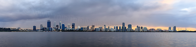 Perth and the Swan River at Sunrise, 22nd May 2017