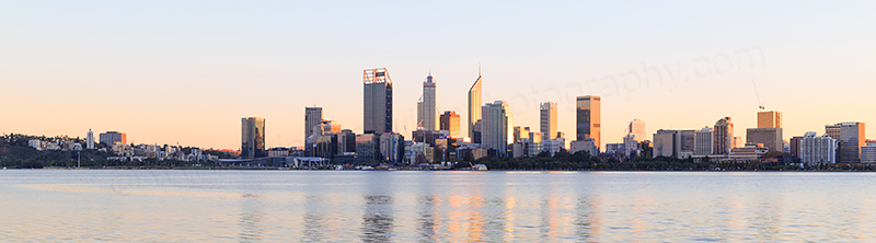 Perth and the Swan River at Sunrise, 28th May 2017