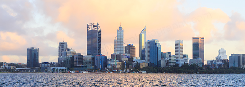 Perth and the Swan River at Sunrise, 21st June 2017