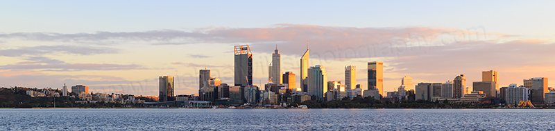 Perth and the Swan River at Sunrise, 11th July 2017