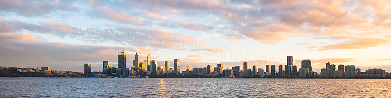 Perth and the Swan River at Sunrise, 15th July 2017
