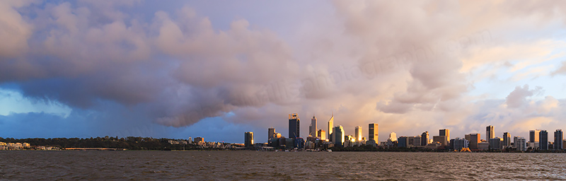 Perth and the Swan River at Sunrise, 20th July 2017