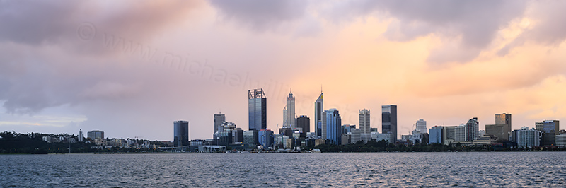 Perth and the Swan River at Sunrise, 29th July 2017