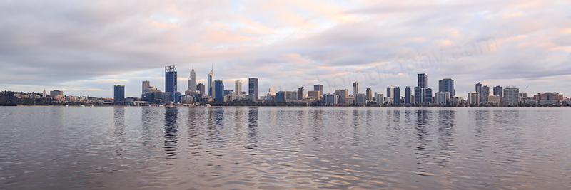 Perth and the Swan River at Sunrise, 6th August 2017