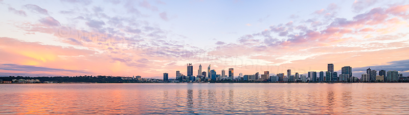 Perth and the Swan River at Sunrise, 7th August 2017