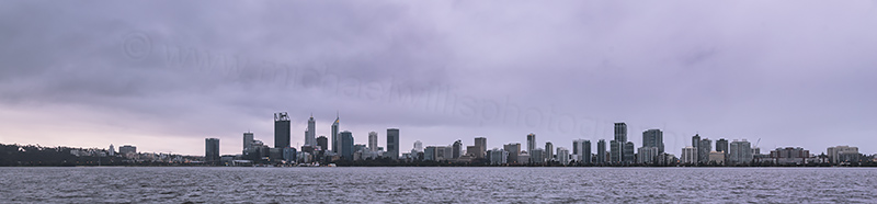 Perth and the Swan River at Sunrise, 12th August 2017