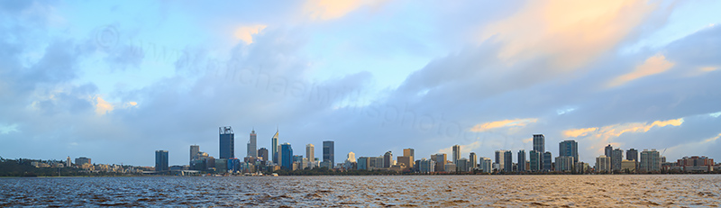 Perth and the Swan River at Sunrise, 14th August 2017