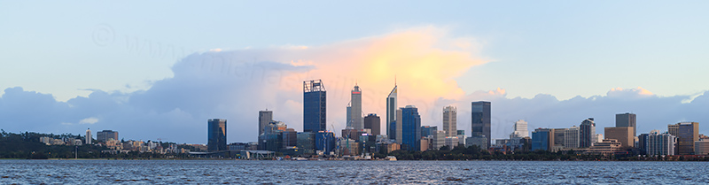 Perth and the Swan River at Sunrise, 15th August 2017