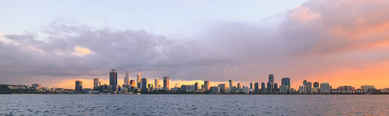 Perth and the Swan River at Sunrise, 17th August 2017