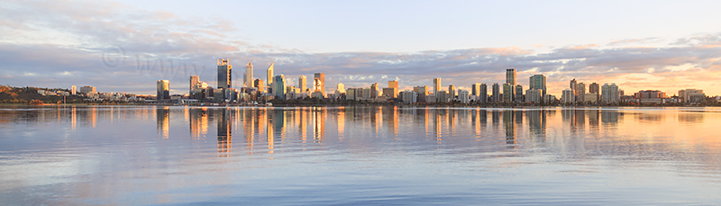 Perth and the Swan River at Sunrise, 23rd August 2017