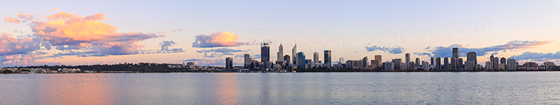 Perth and the Swan River at Sunrise, 27th August 2017