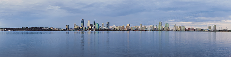 Perth and the Swan River at Sunrise, 29th August 2017