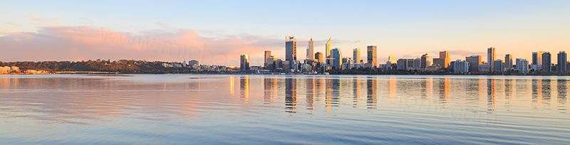Perth and the Swan River at Sunrise, 2nd September 2017