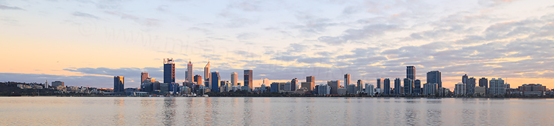 Perth and the Swan River at Sunrise, 3rd September 2017