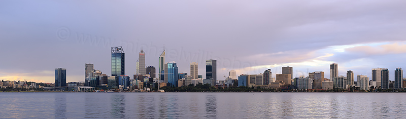 Perth and the Swan River at Sunrise, 11th September 2017