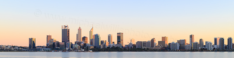 Perth and the Swan River at Sunrise, 14th September 2017