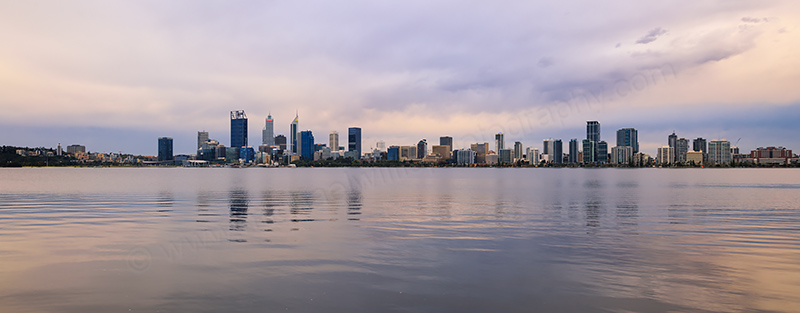 Perth and the Swan River at Sunrise, 15th September 2017