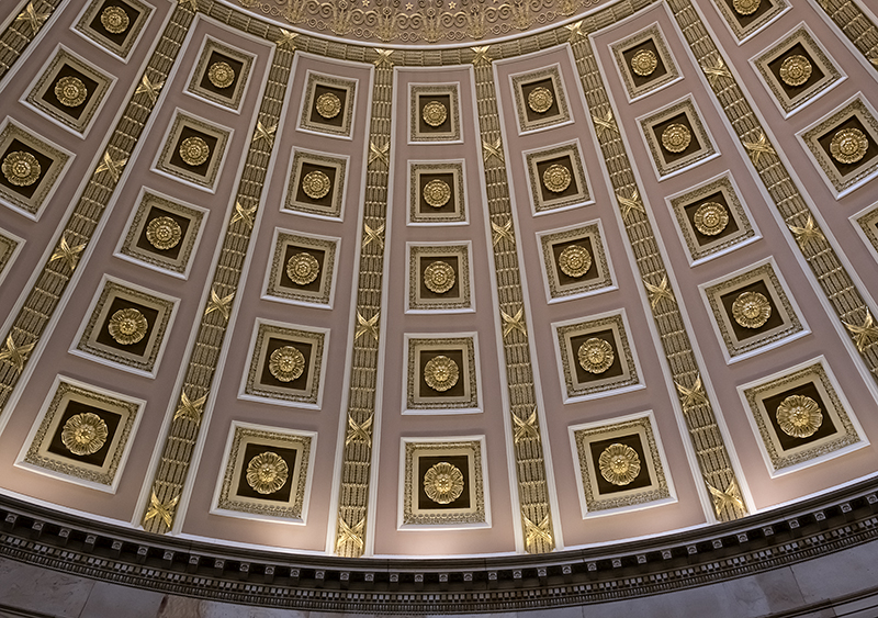 Elaborate design of Statuary Hall