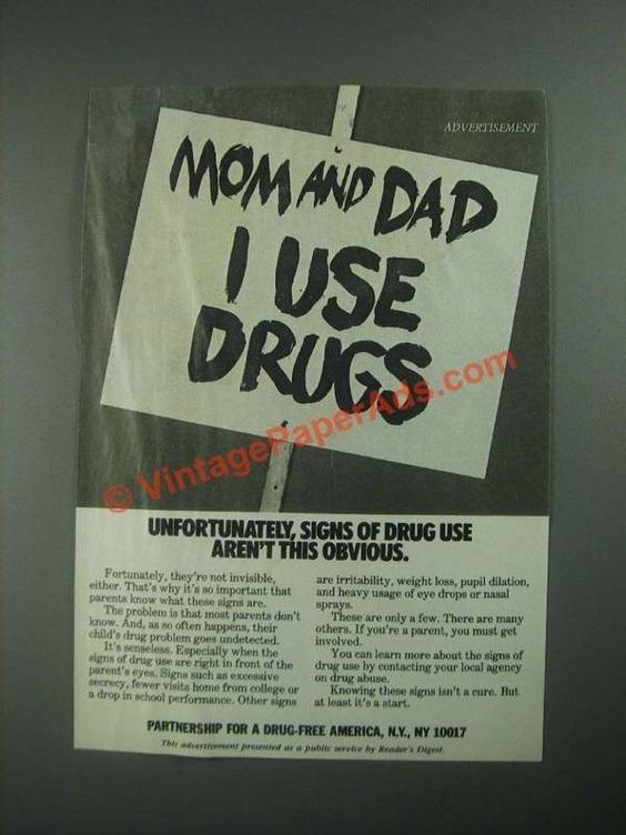 a background of the partnership for a drug free america