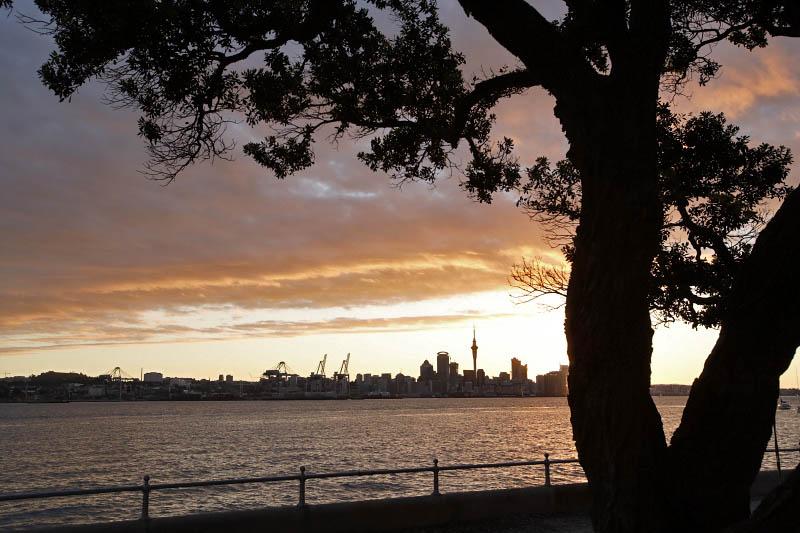 Auckland from Waiheke Island, New Zealand