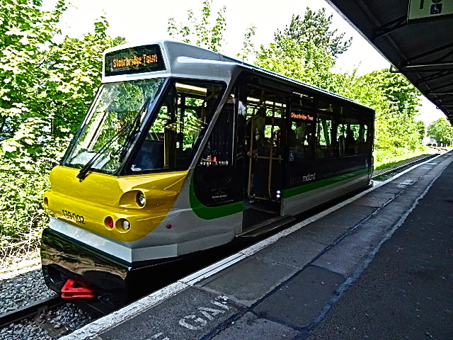 A train bus (rail and road) at the Stourbridge Junction