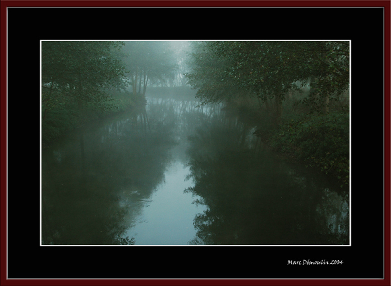 Mist on the Charentonne rivers valley