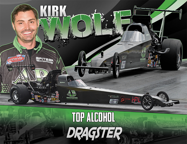 Kirk Wolf Top Alcohol Dragster 2017