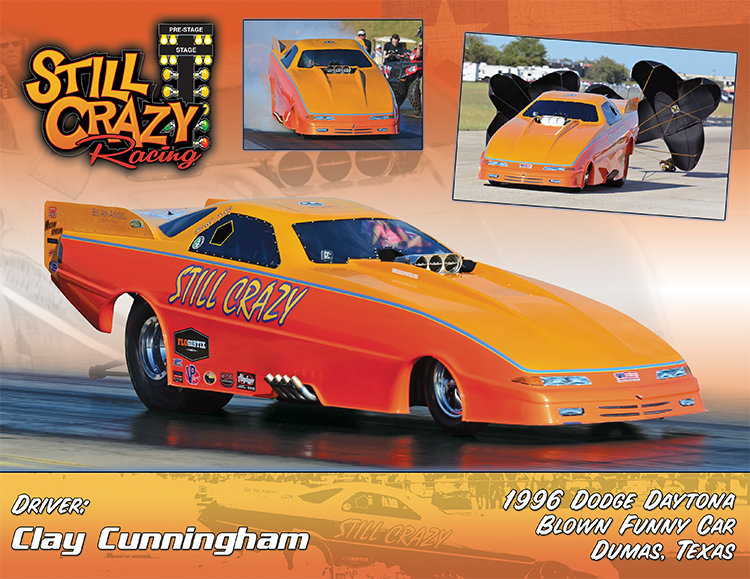 Clay Cunningham Still Crazy Funny Car 2017