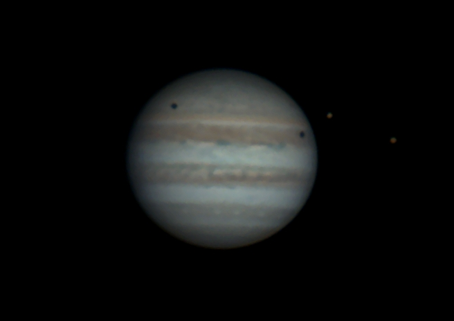 Jupiter with Io and Europa