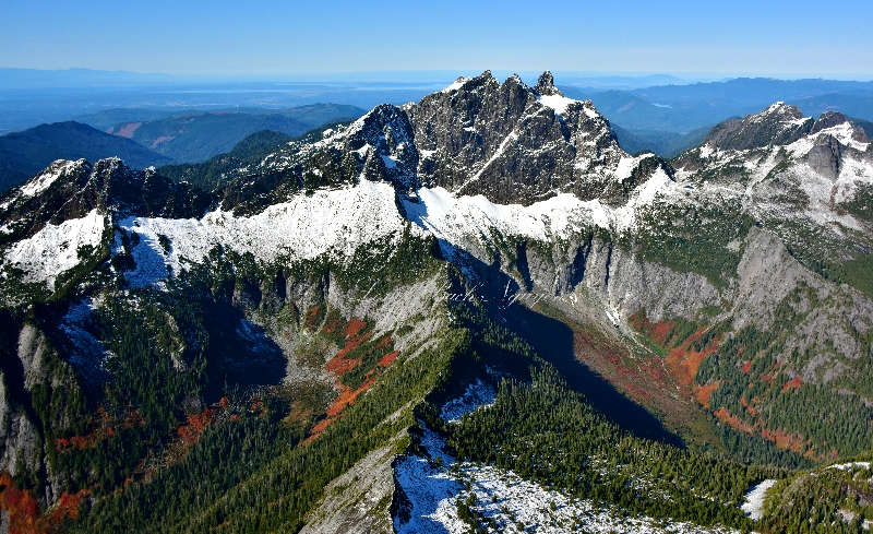 Three Fingers and Squire Creek and Mt Bullon Cascade Mountains 333