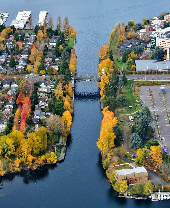 Montlake Cut, Montalke Bridge, Montalke Boulevard, UW Medical Center, Portage Bay, Seattle Washington 017