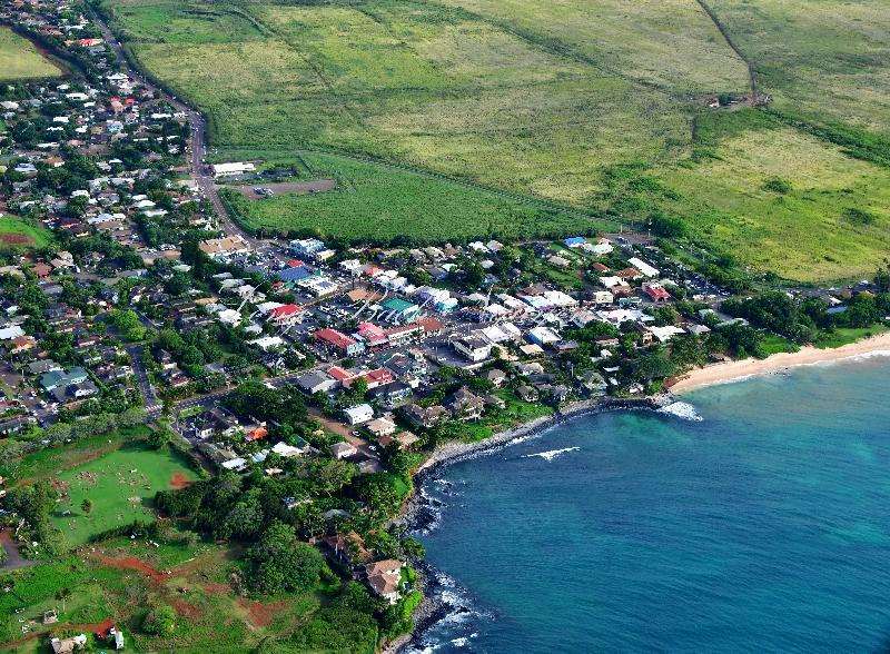 Aerial view of Paia, Maui, Hawaii 414