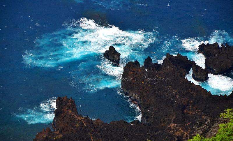 Kapukaulau, Pukaulua point, Keawaiki Bay  by Hana Airport Hana Hawaii 229