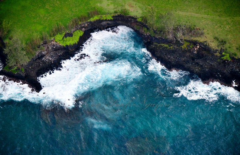 Crashing Waves by Lehoula Beach, Hana, Maui, Hawaii 368
