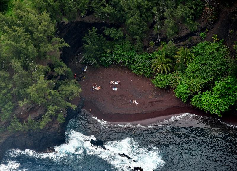Red Sand Beach bases of Ka'uiki Head, Hana, Hawaii 249