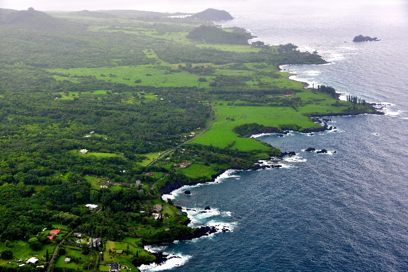 Life along the Hana Highwaii looking toward Hana, Maui, Hawaii 351