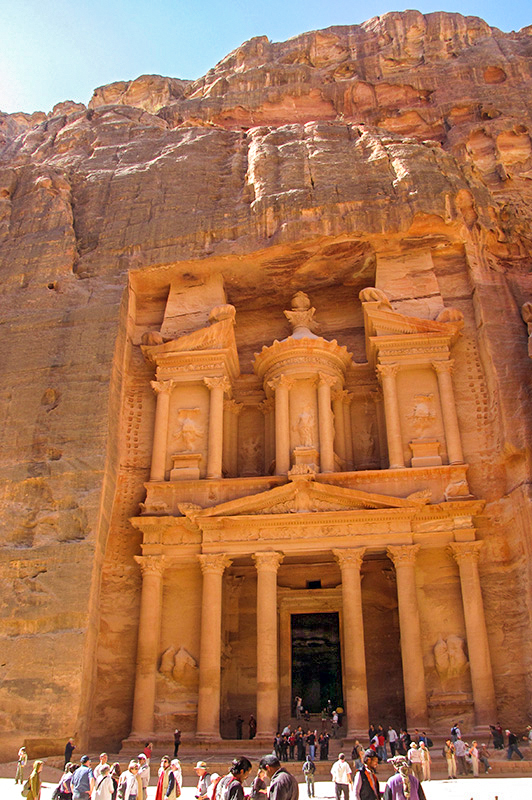 Sandstone mountain  from which Al-Khazneh is carved.  1st Century