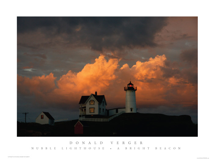 402NUBBLE LIGHTHOUSE A BRIGHT BEACON POSTER