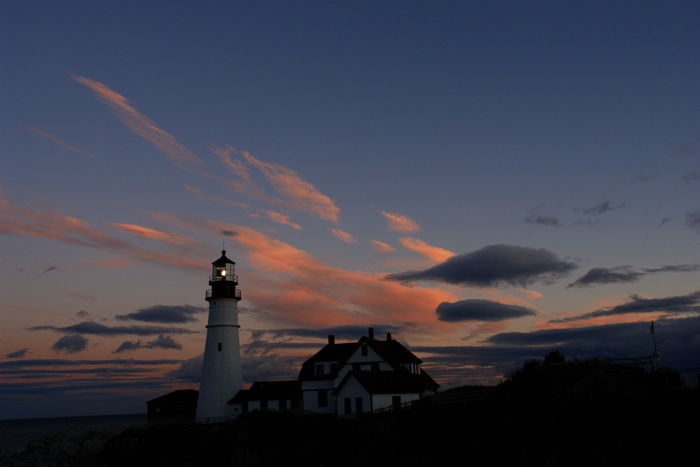 DSC07251.jpg Portland Headlight at sunset... which is your fave image in this gallery? also see my Calendars...