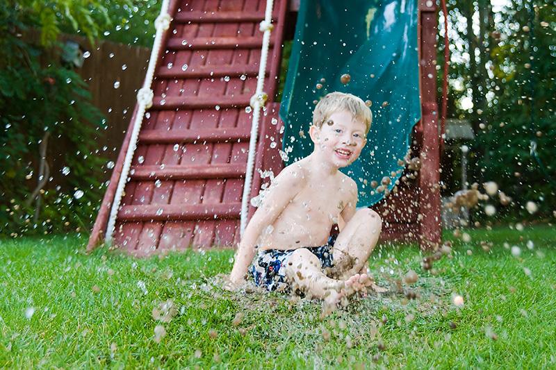 Ryans slide in the mud