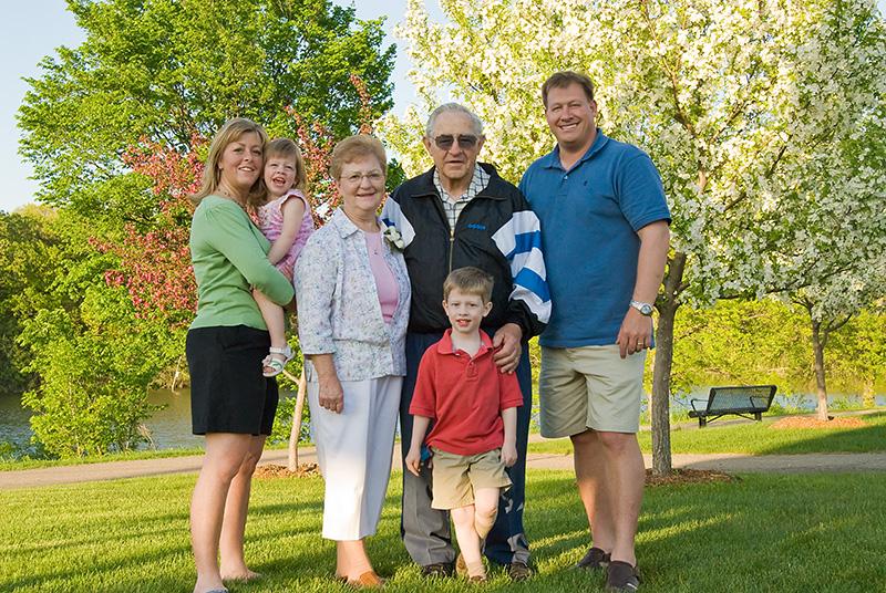 Lentz family with Jakubics