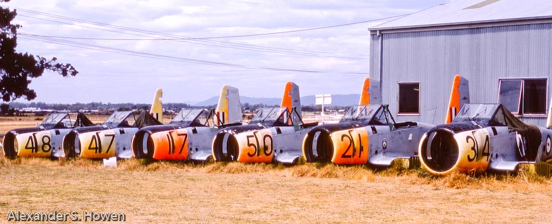 Retired RAAF aircraft