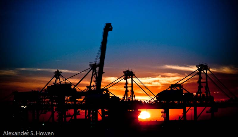 Port Botany container terminal cranes