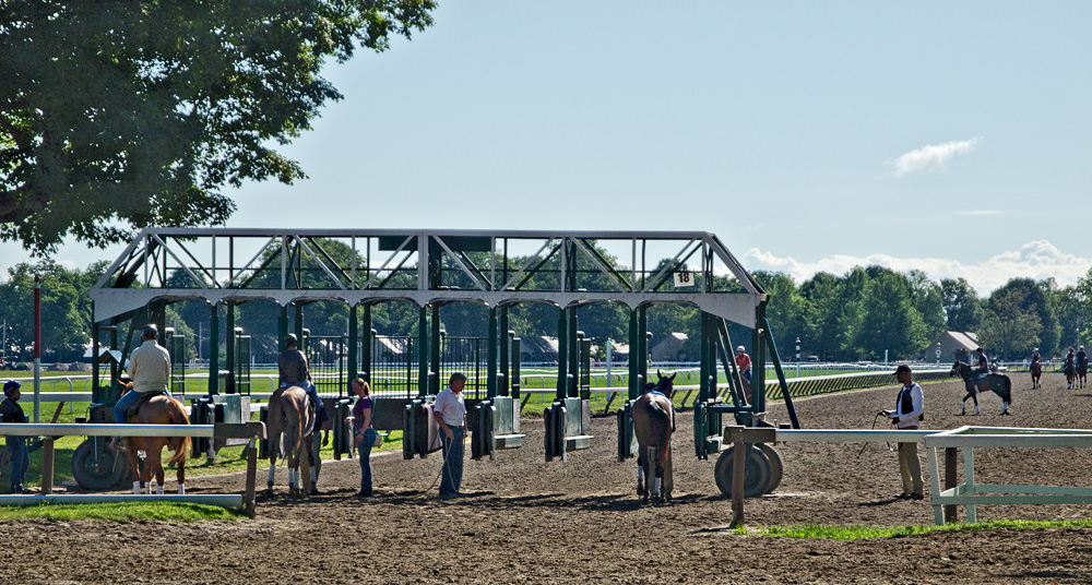 Morning at the Backstretch - Saratoga Race Course