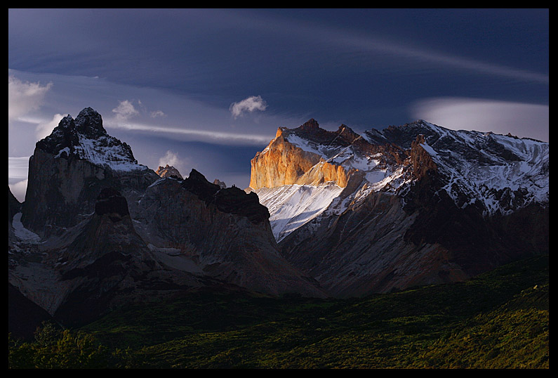 Light on the Cuernos del Paine