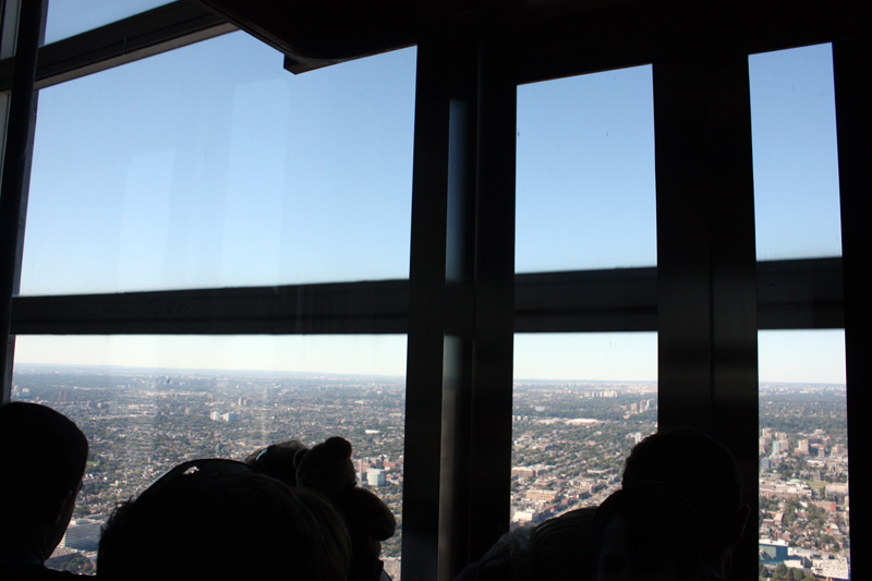 On the  CN Tower  lift ( they call it elevator here...)