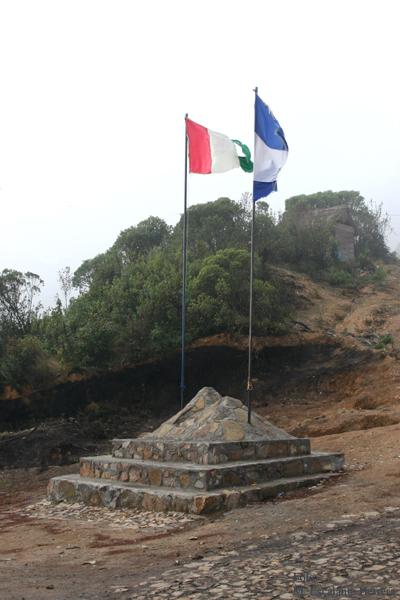 Monumento en el Inicio de la Ruta de Ascenso al Volcan Tajumulco